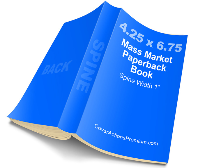 Mass Market Paperback Book Mockup / Cover Actions- 4.25 x 6.75