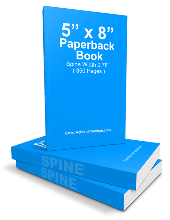 5x8 Paperback Book Mockup / Cover Actions