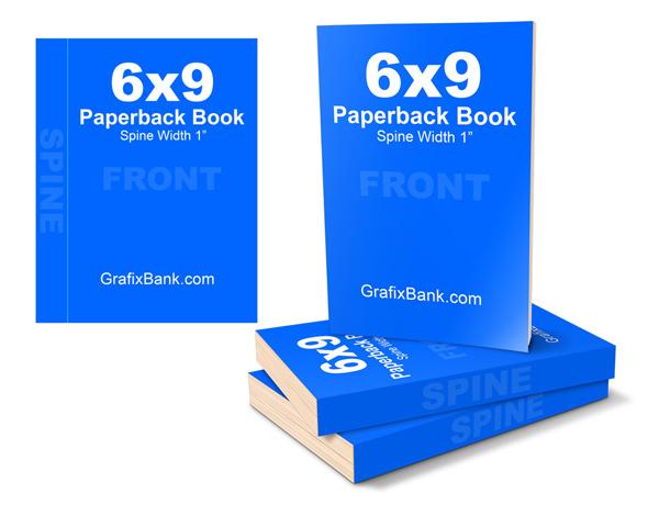 6 x 9 Paperback Mockup Template