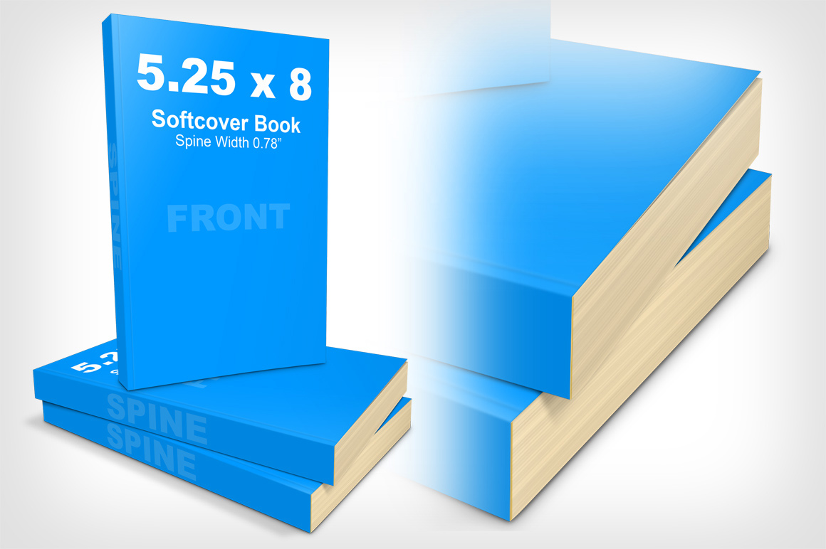5.25 x 8 Softcover Book Mockup / Cover Actions