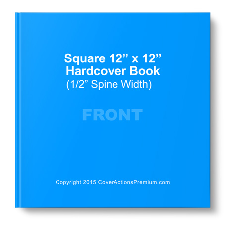 12 x 12 Square Hardcover Book Mockup